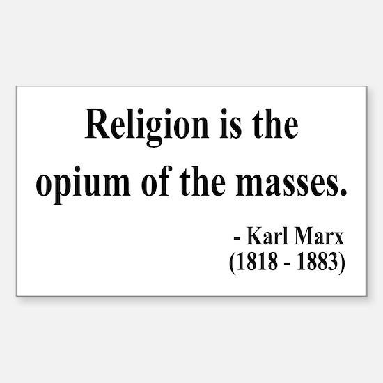 Karl Marx 1 Rectangle Decal
