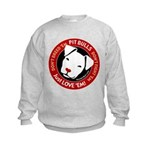 Pit Bulls: Just Love 'Em! Kids Sweatshirt