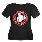 Pit Bulls: Just Love 'Em! Women's Plus Size Scoop