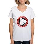 Pit Bulls: Just Love 'Em! Women's V-Neck T-Shirt