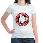 Pit Bulls: Just Love 'Em! Jr. Ringer T-Shirt