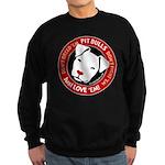 Pit Bulls: Just Love 'Em! Sweatshirt (dark)