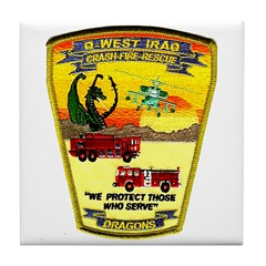 Iraq Military Fire Dept Tile Coaster