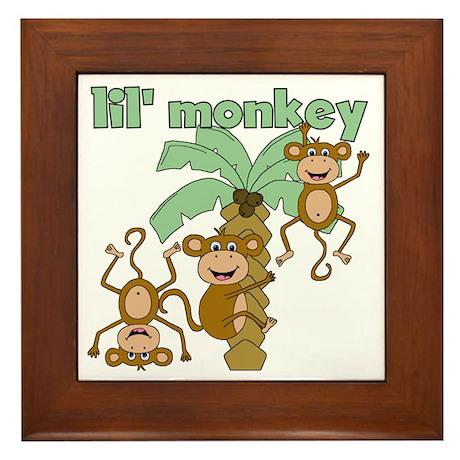 Lil Monkey Framed Tile