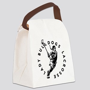 Bulldogs Girl Canvas Lunch Bag