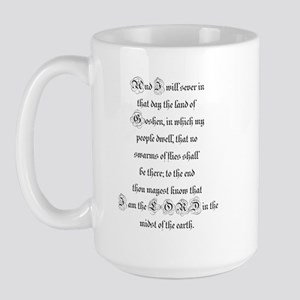 EXODUS  8:22 Large Mug