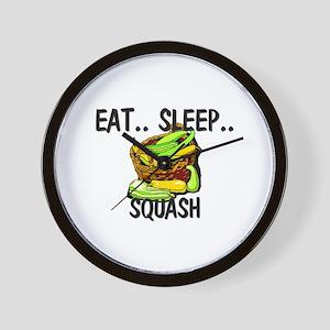 Eat ... Sleep ... SQUASH Wall Clock