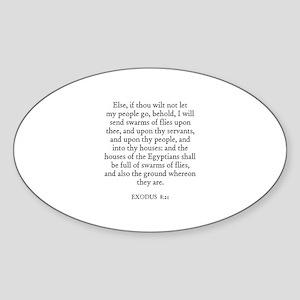 EXODUS 8:21 Oval Sticker