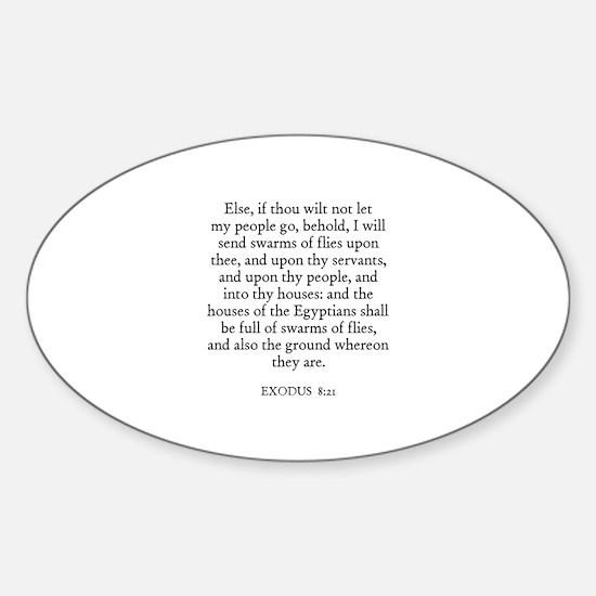 EXODUS 8:21 Oval Decal