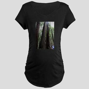 Muir Woods, California Maternity Dark T-Shirt