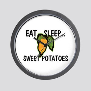 Eat ... Sleep ... SWEET POTATOES Wall Clock