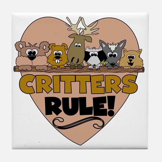 Critters Rule Tile Coaster