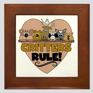 Critters Rule Framed Tile