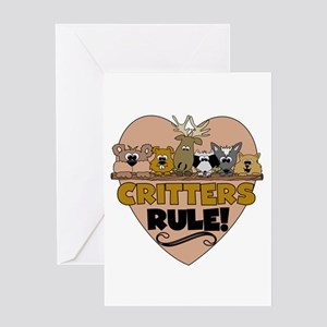 Critters Rule Greeting Card