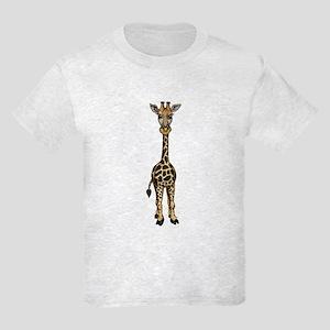 Giraffe Standing Kids Light T-Shirt