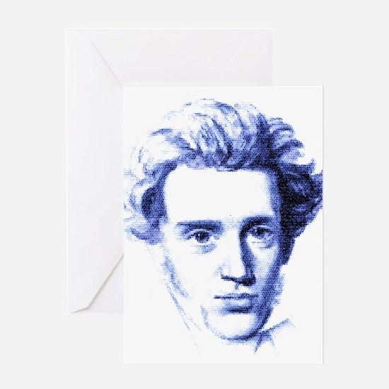 Blue Kierkegaard Greeting Card