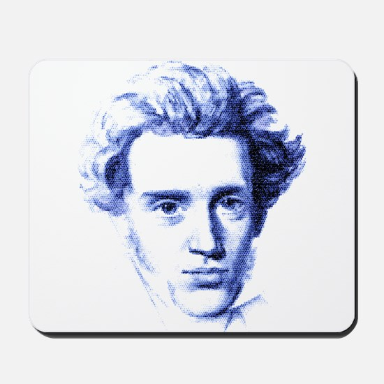 Blue Kierkegaard Mousepad