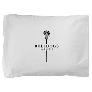 Bulldogs Lacrosse Pillow Sham