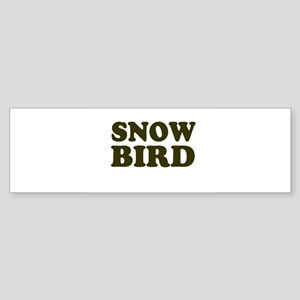 Snow Bird Bumper Sticker