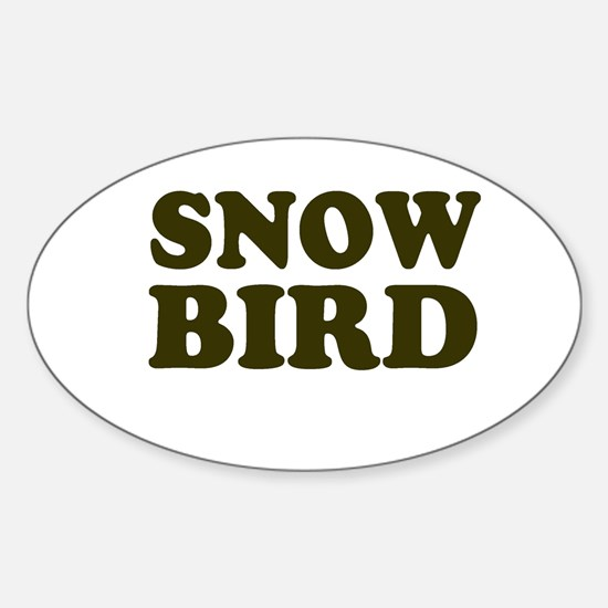 Snow Bird Oval Decal