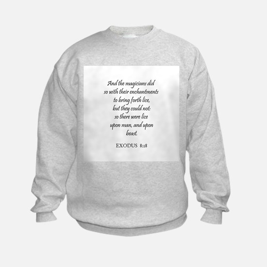 EXODUS  8:18 Sweatshirt