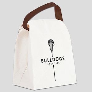 Bulldogs Lacrosse Canvas Lunch Bag