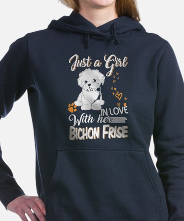 Just A Girl In Love With Bichon Frise Sweatshirt