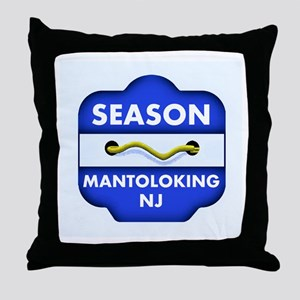 Mantoloking Beach Badge Throw Pillow