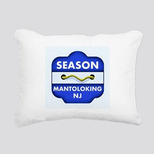 Mantoloking Beach Badge Rectangular Canvas Pillow