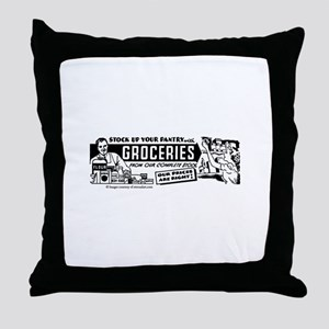 Stock Up With Groceries Throw Pillow