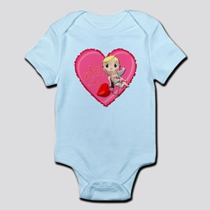 Pink Valentine Heart Infant Bodysuit