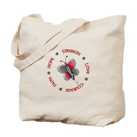Hope Courage 1 Butterfly 2 PD Tote Bag