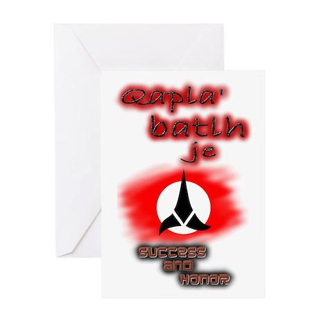 Qapla' batlh je - Greeting Card