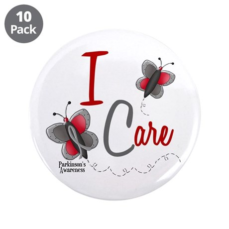 """I Care 1 Butterfly 2 PD 3.5"""" Button (10 pack)"""