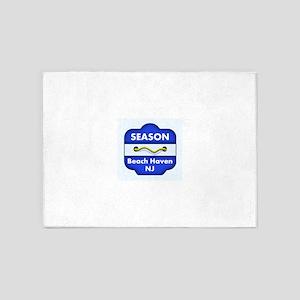Beach Haven Season Badge 5'x7'Area Rug