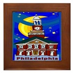 Starry Night Philadelphia Framed Tile