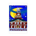 Starry Night Philadelphia Rectangle Sticker