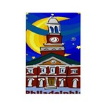 Starry Night Philadelphia Rectangle Magnet