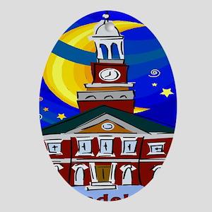 Starry Night Philadelphia Oval Ornament