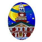 Starry Night Philadelphia Oval Ornament
