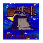Starry Night Philadelphia Tile Coaster