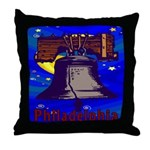 Starry Night Philadelphia Throw Pillow
