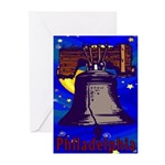 Starry Night Philadelphia Greeting Cards (Pk of 10