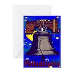 Starry Night Philadelphia Greeting Cards (Pk of 10