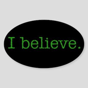I Believe (Alien) Oval Sticker
