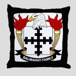 Balmanno Family Crest Throw Pillow