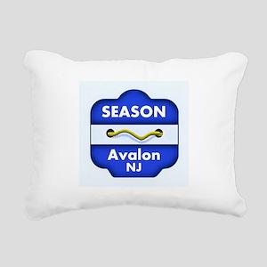 Avalon Season Beach Badge Rectangular Canvas Pillo