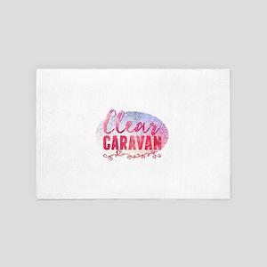 Clear caravan 4' x 6' Rug