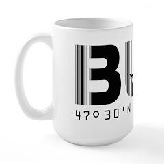Budapest Airport Code BUD Hungary Large Mug