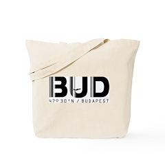 Budapest Airport Code BUD Hungary Tote Bag